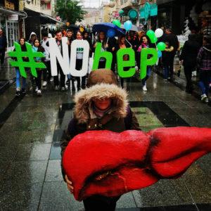Macedonian NOhep supporters on an awareness raising walk