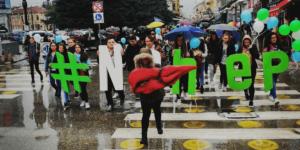 NOhep supporters in Macedonia on an awareness-raising walk